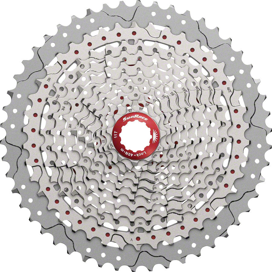 SunRace MX8 Cassette - 11 Speed, 11-50t, Silver