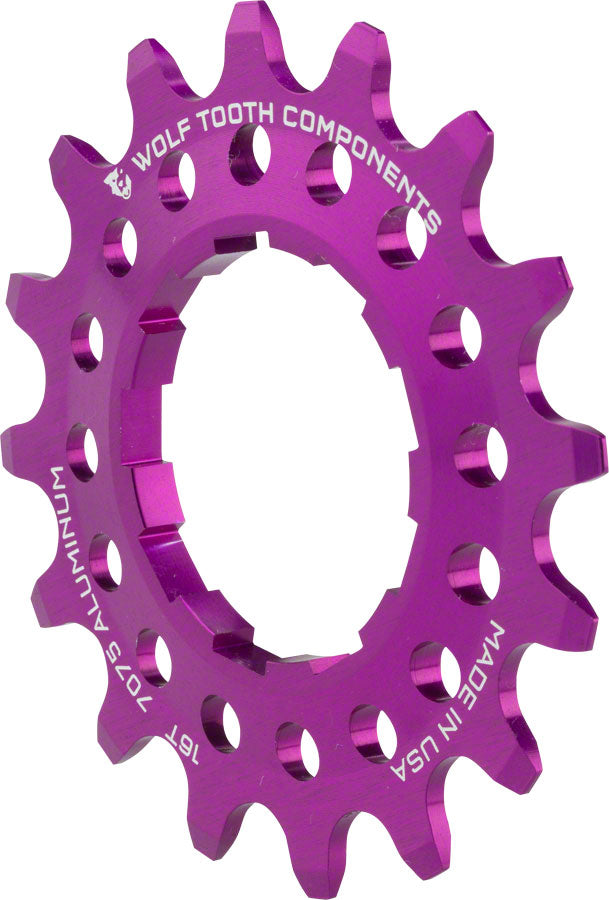 """Wolf Tooth Components Single Speed Aluminum Cog 19T Fits 3//32/"""" Chains Purple"""