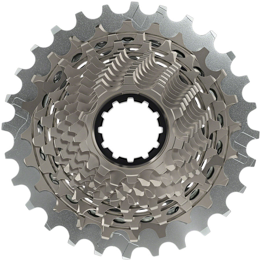 SRAM RED AXS XG-1290 Cassette - 12 Speed, 10-28t, Silver, For XDR Driver Body, D1