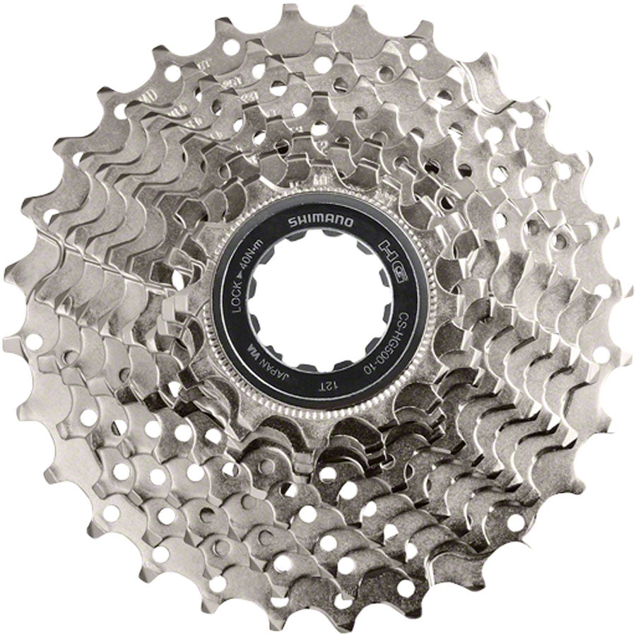 Shimano Deore M6000 CS-HG500 Cassette - 10 Speed, 12-28t, Silver MPN: ICSHG50010228 UPC: 689228328198 Cassettes Deore CS-HG500 10-Speed Cassette