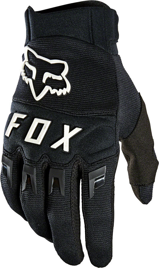 Fox Racing Dirtpaw Gloves - Black/White, Full Finger, Men's, Medium
