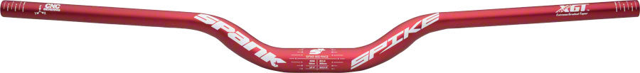 Spank Spike Race Bars 800mm Wide, 50mm Rise, 31.8mm Clamp Matte Red
