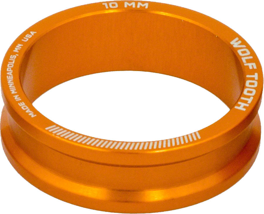 Wolf Tooth Headset Spacer 5 Pack, 10mm, Orange MPN: SPACER-ORG-5PACK-10MM UPC: 812719022811 Headset Stack Spacer Precision Spacer 5 Pack