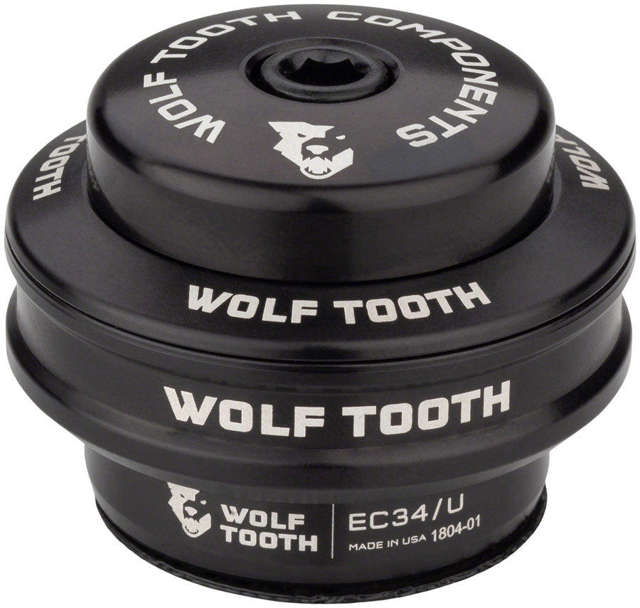 Wolf Tooth Premium Headset - EC34/28.6 Upper, 16mm Stack, Black