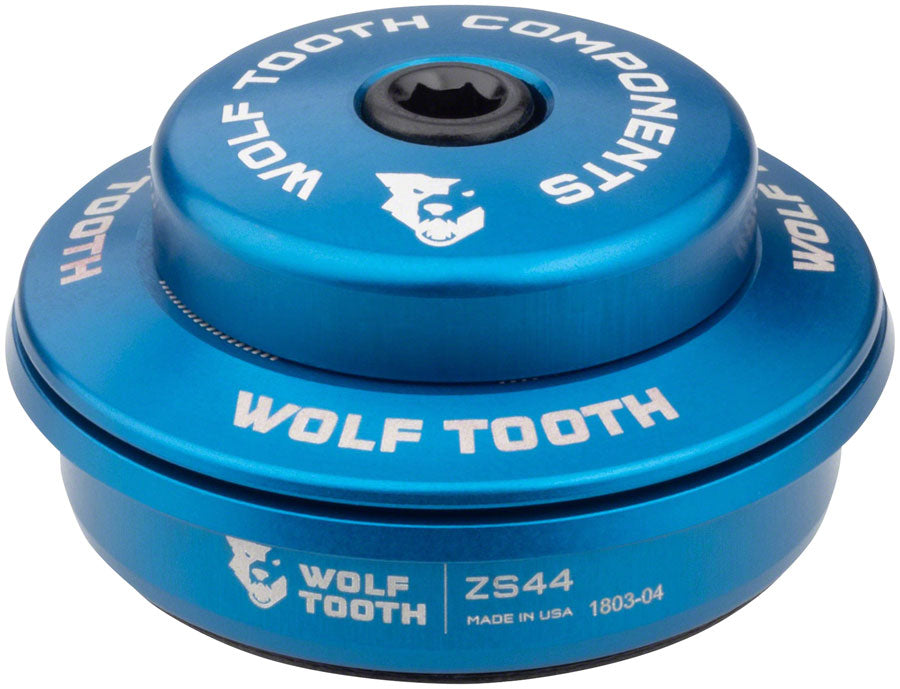 Wolf Tooth Performance Headset - ZS44/28.6 Upper, 6mm Stack, Blue