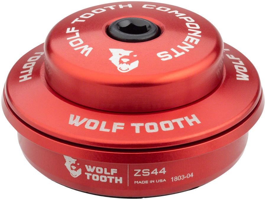 Wolf Tooth Performance Headset - ZS44/28.6 Upper, 6mm Stack, Red