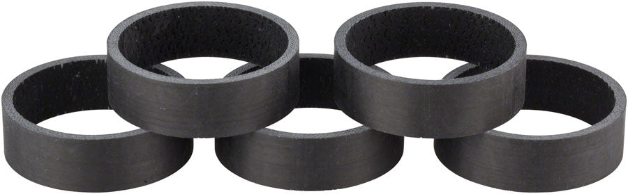 WHISKY 10mm UD Carbon Spacer Matte Black 5-pack