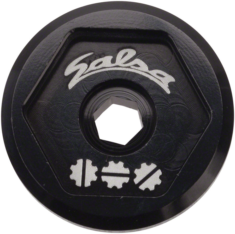 Salsa Split Pivot Dropout Tool Top Cap Black with Black Bolt