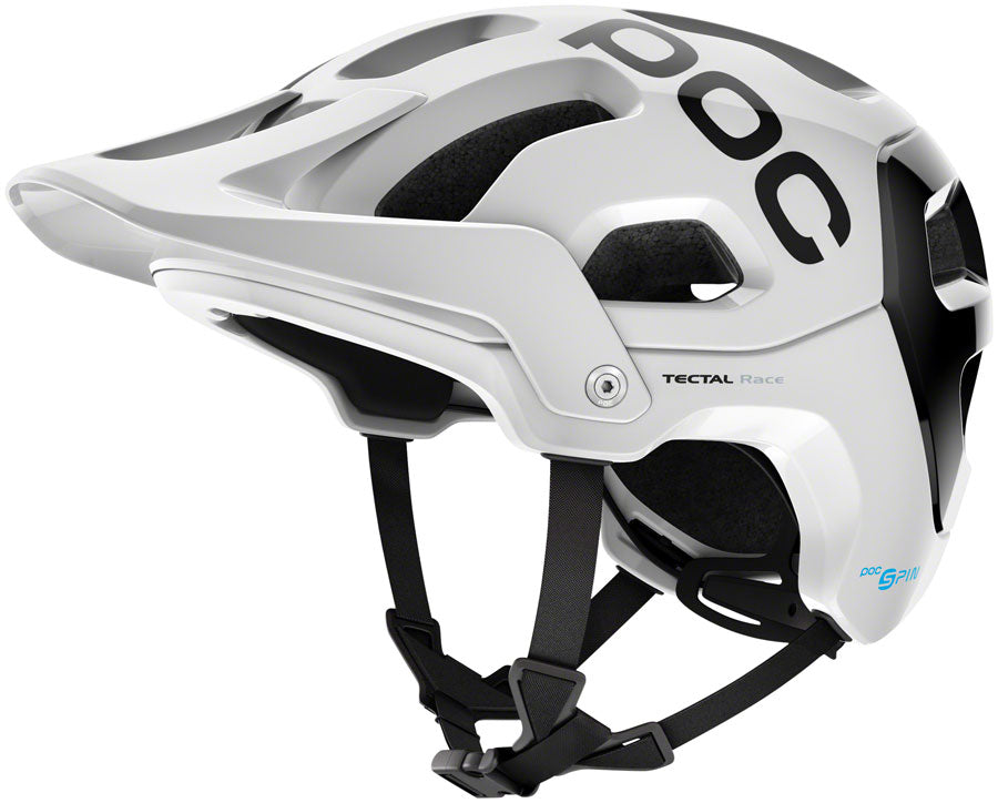 POC Tectal Race SPIN Helmet - Hydrogen White/Uranium Black, Medium/Large