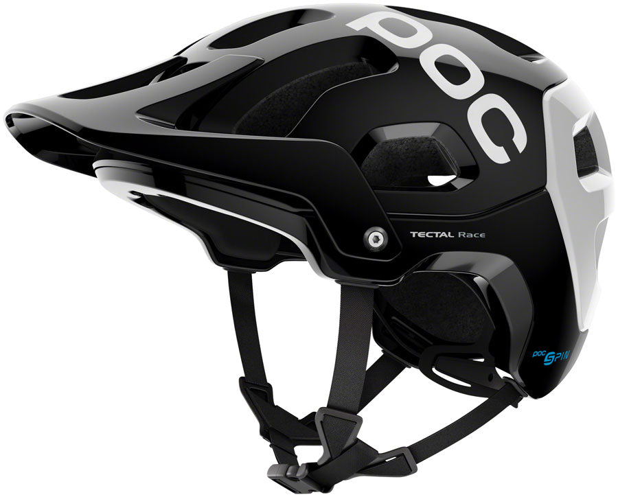 POC Tectal Race SPIN Helmet - Uranium Black/Hydrogen White, Medium/Large