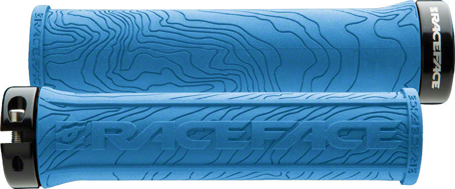 RaceFace Half Nelson Lock-On Grip Blue MPN: AC990058 UPC: 821973195056