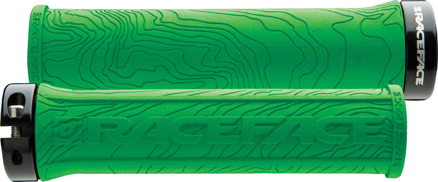 RaceFace Half Nelson Grips - Green, Lock-On MPN: AC990059 UPC: 821973195063 Grip Half Nelson