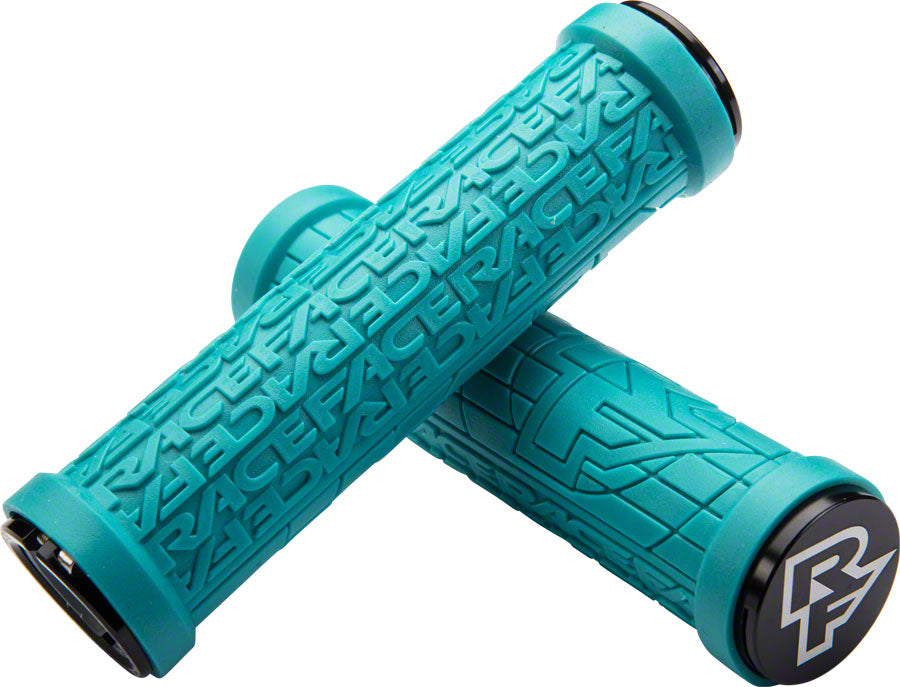 RaceFace Grippler Grips - Turquoise, Lock-On, 30mm