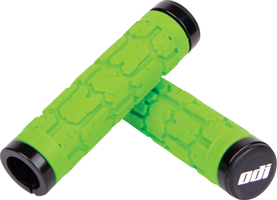 ODI Rogue Lock-On Grips - Lime Green, Lock-On