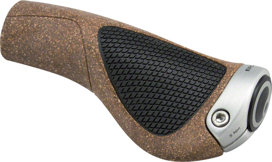 Ergon GP1 BioKork Grips - Black/Tan, Lock-On, Large MPN: 42410006 Grip GP1 BioKork