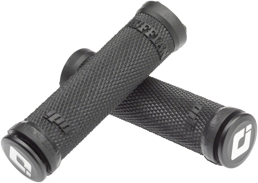 ODI Ruffian Lock-On Bicycle Grips: Black Pair with end plugs