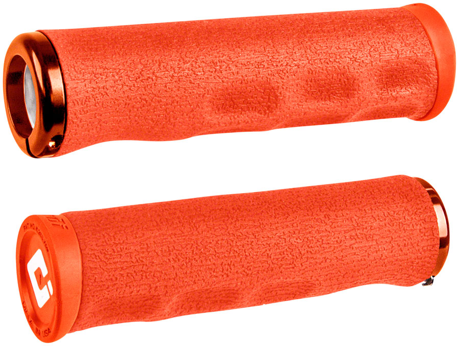 ODI Dread Lock Grips - Orange, Lock-On