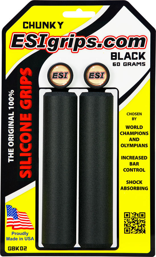 ESI 32mm Chunky Silicone Grips: Black MPN: GBK02 UPC: 181517000032