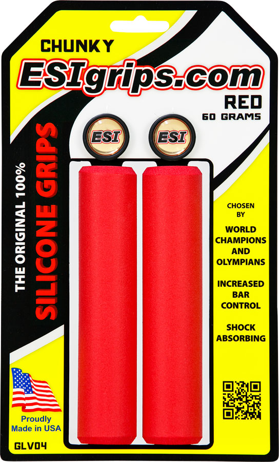 ESI 32mm Chunky Silicone Grips: Red