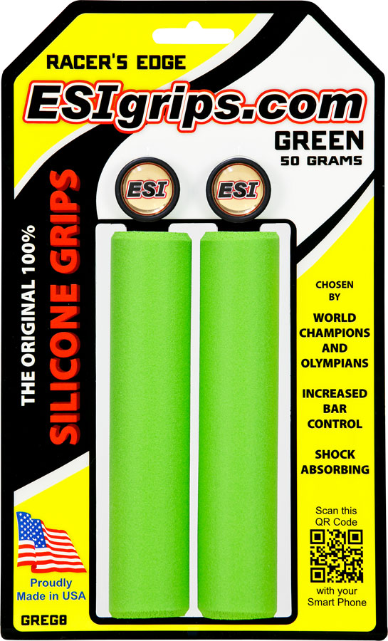 ESI 30mm Racer's Edge Silicone Grips: Green