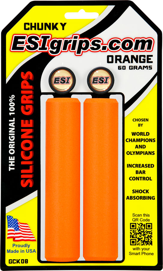 ESI 32mm Chunky Silicone Grips: Orange