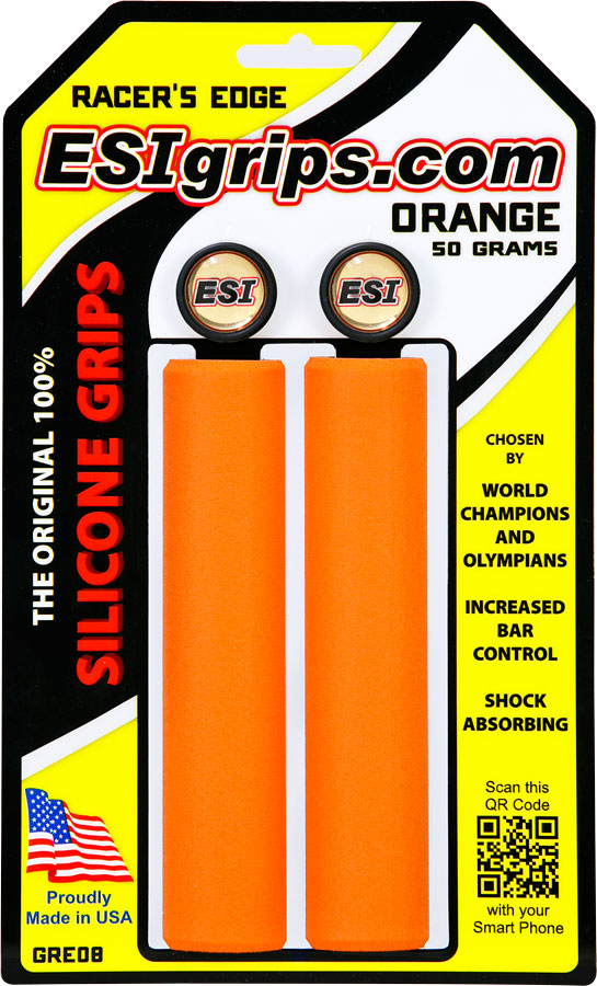 ESI 30mm Racer's Edge Silicone Grips: Orange