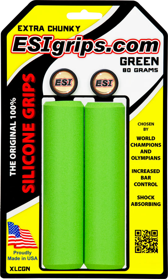 ESI Racer/'s Edge Bike Grips 100/% Silicone Shock Absorbing 130mm 50g Choose Color