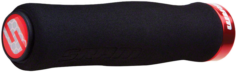 SRAM Foam Contour Grips - Black/Red, Lock-On MPN: 00.7915.068.070 UPC: 710845666988 Grip Foam