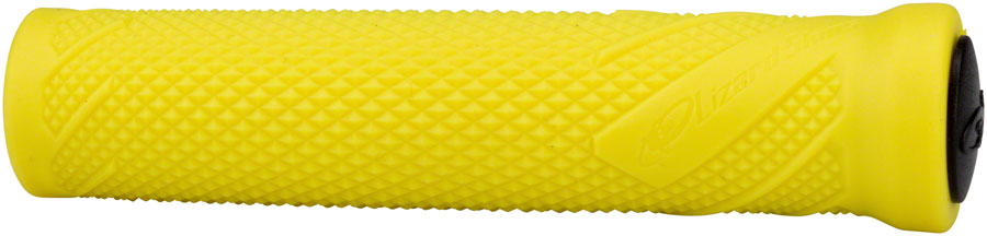 Jet Neon Lizard Skins Single Compound MacAskill Grips with Push In Plugs