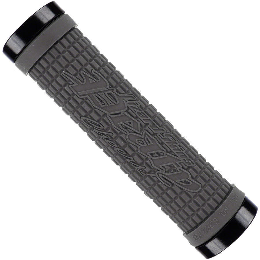 Lizard Skins Peaty Grips - Graphite/Red, Lock-On MPN: LOPDS300 UPC: 696260060306 Grip Peaty