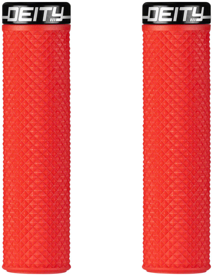 Deity Components Supracush Grips - Red, Lock-On MPN: 26-SCUSH-RD UPC: 817180024319 Grip Supracush Grips