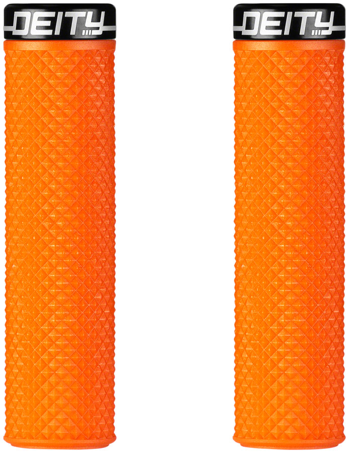 Deity Components Supracush Grips - Orange, Lock-On