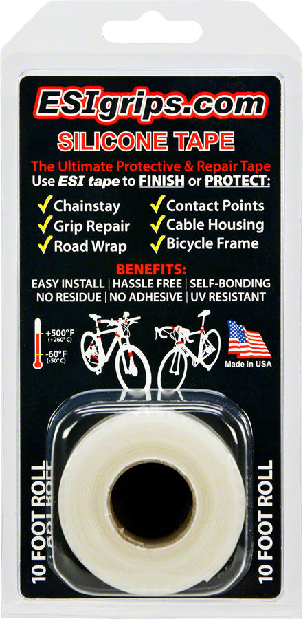 ESI Silicone Tape: 10' Roll, Clear MPN: TR10C UPC: 181517000674 Chainstay/Frame Protection Silicone Tape