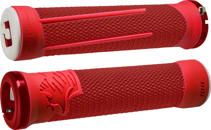 ODI AG2 Grips - Red/Fire, Lock-On