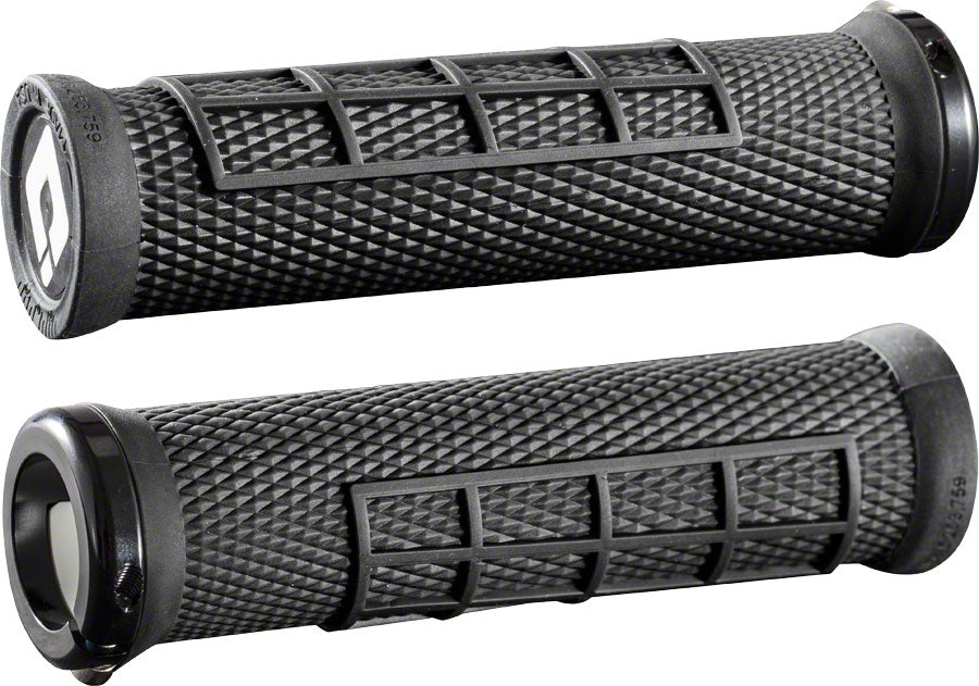 ODI Elite Flow Grips - Black, Lock-On