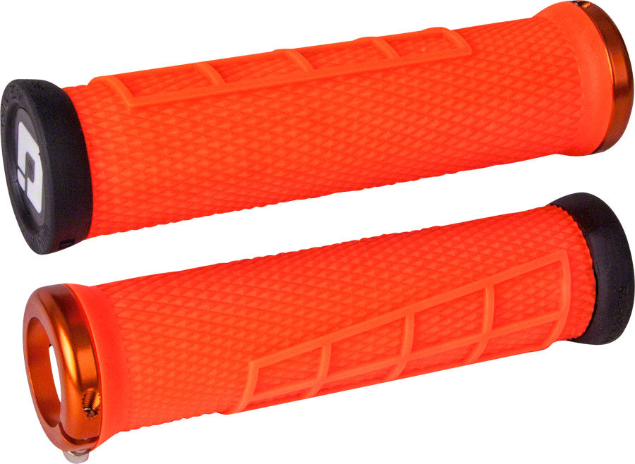 ODI Elite Flow Grips - Orange, Lock-On
