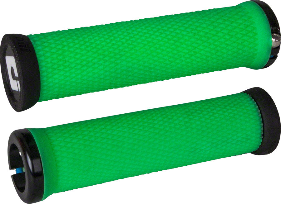 ODI Elite Motion Grips - Retro Green, Lock-On MPN: D33MTRN-B UPC: 711484190391 Grip Elite Motion