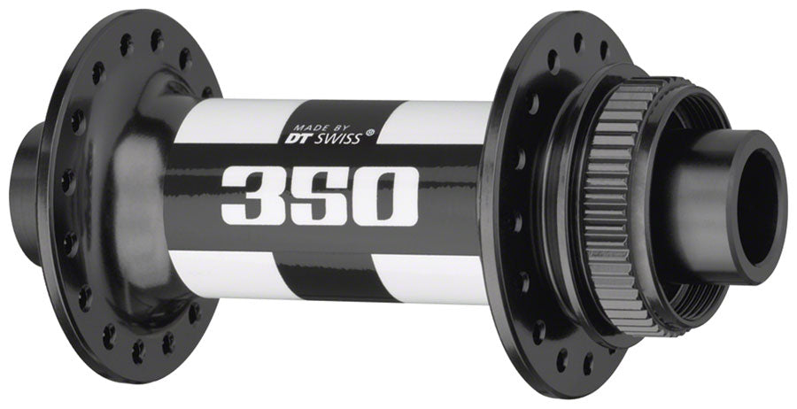 DT Swiss 350 Front Hub - 12 x 100mm, Center-Lock, Black, 24h