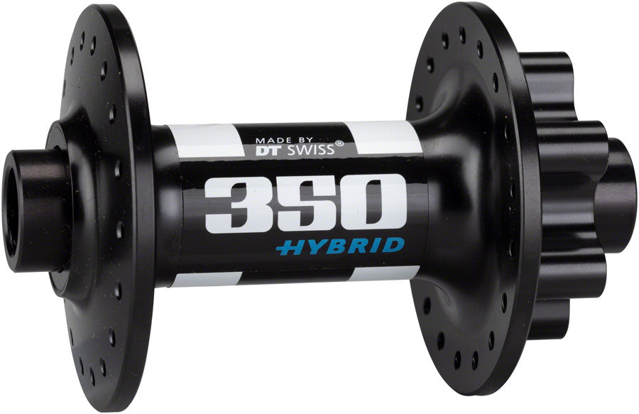 DT Swiss 350 Hybrid Front Hub - 15 x 110mm, 6-Bolt, Black, 36h