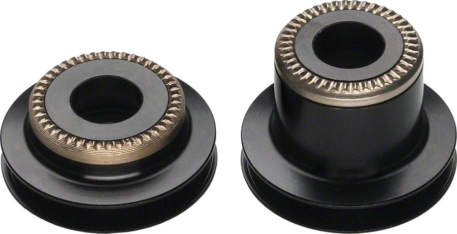 DT Swiss 5mm QR to 9mm Thru conversion end caps for pre-2010 Center Lock 240 hub