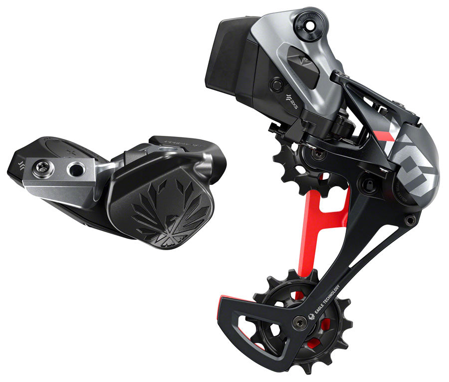SRAM X01 Eagle AXS Upgrade Kit - Rear Derailleur for 10-52t, Battery, Eagle AXS Controller w/ Clamp, Charger/Cord, Red