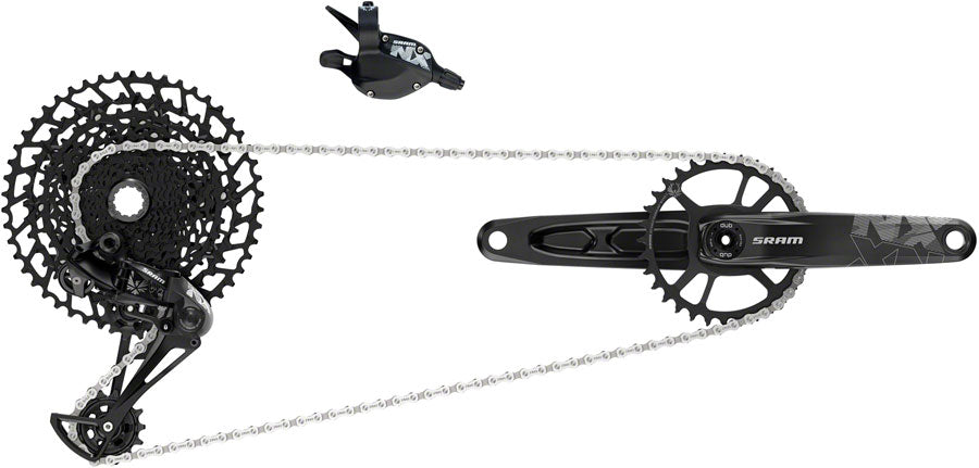 SRAM NX Eagle Groupset: 170mm 32 Tooth DUB Crank, Rear Derailleur, 11-50 12-Speed Cassette, Trigger Shifter, and Chain