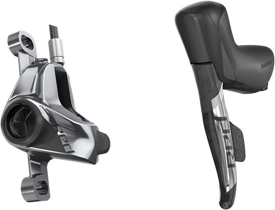 SRAM RED eTap AXS HRD Shift/Brake Lever and Hydraulic Disc Caliper - Left/Front, Post Mount, 950mm Hose, Black/Silver,