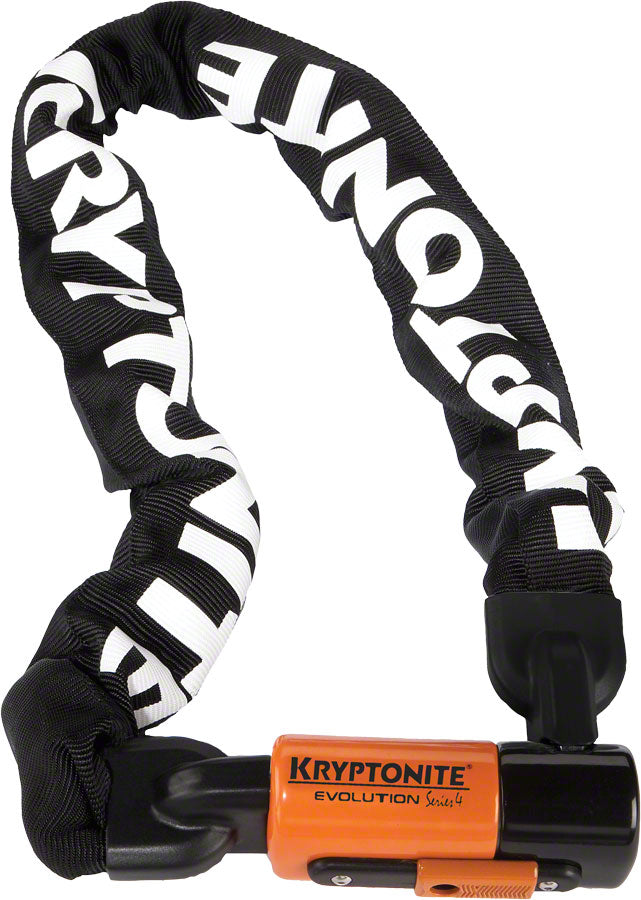 Kryptonite 1090 Evolution Series 4 Chain Lock: 3' (90cm) Keyed Key Bike