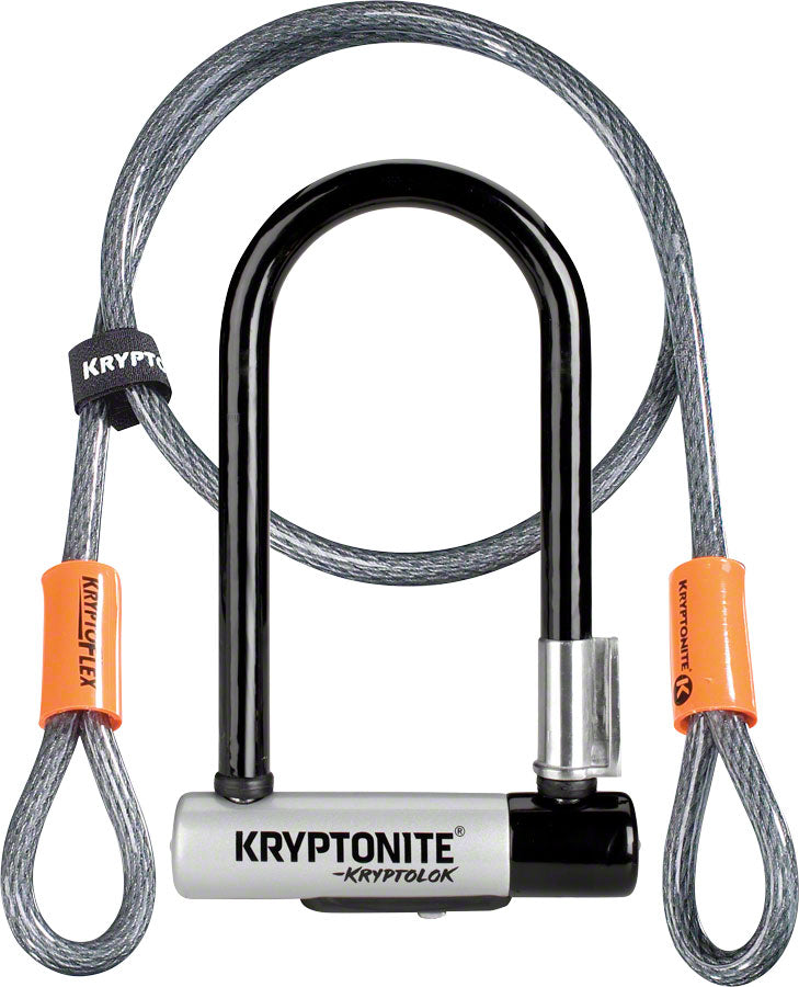 Kryptonite KryptoLok Mini-7 U-Lock with 4' Flex Cable and Bracket MPN: 001973 UPC: 720018001973 U-Lock KryptoLok U-Lock