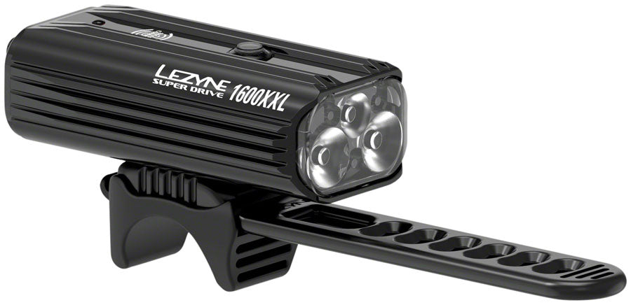 Lezyne Super Drive 1600XXL Headlight: Gloss Black