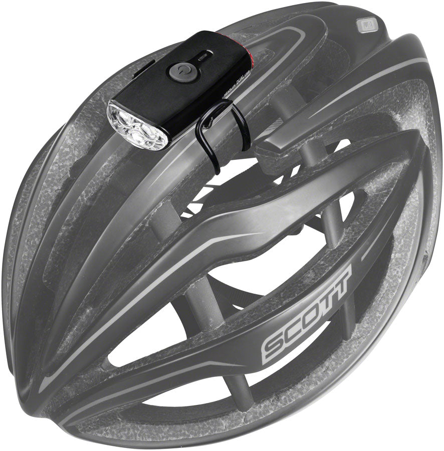 Topeak HeadLux Dual Headlight/Taillight, USB, Black - Headlight - HeadLux Helmet Head/Tail Light