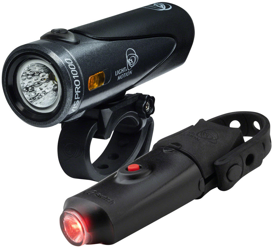 Light and Motion VIS 1000 Trooper + Vya Switch Combo Light Set