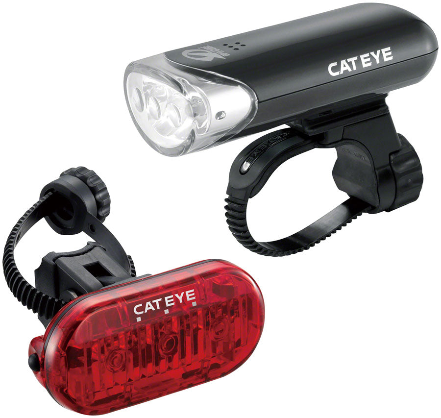 CatEye HL-EL135 LED Headlight and Omni3 LED Taillight Set: Black