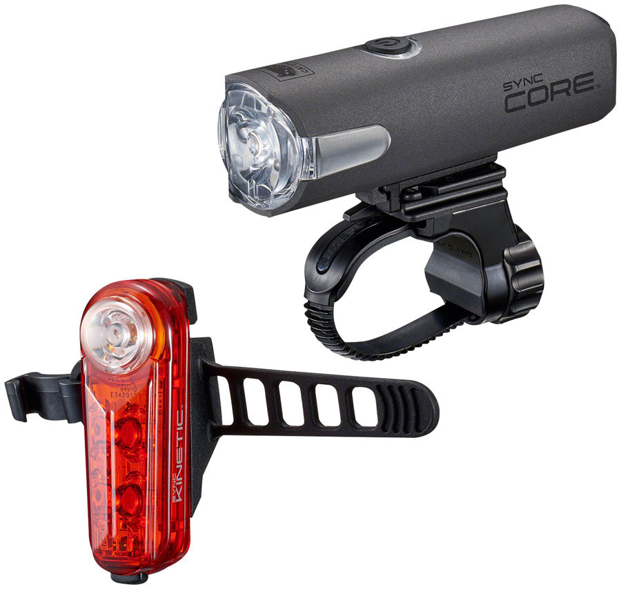 CatEye Sync and Kinetic Light Set: Black MPN: 8910000 UPC: 725012033531 Headlight & Taillight Set SYNC Core and Kinetic Set